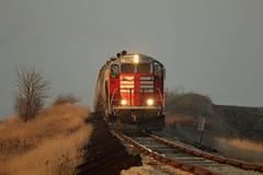 MP 111. (soo6000) Tags: emd gp9 geep rollinghills wabash bloomer thebloomerline blol blol7591 7591 mp111 grain graintrain train railroad shortline boltedrail sunset unittrain freight