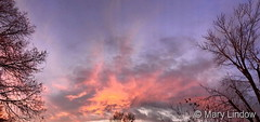 November 17, 2019 - Brilliantly lit clouds at sunset. (Mary Lindow)