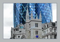 ... old and modern (christikren) Tags: architecture architektur blue building christikren city contrast europe international london modern old new panasonic photography perspective skyscraper tower urban historic structure design bluecolour grey innamoramento world selective