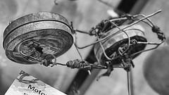 Motorrad - Weltspielzeug (schubertj73) Tags: fotografie foto fotos photo photography photos photoart photographien art artwork artworks artphoto artphotography artist kunst kunstwerk kunstfotografie künstler parktheater iserlohn ausstellung exhibition schubertj73 skulptur skulpturen sculpture sculptures motorrad motorcycle nb bw noir blanc black blackwhite blackandwhite zwartwit sw schwarz schwarzweis schwarzweiss weis weiss white monochrome monochromo camaieu
