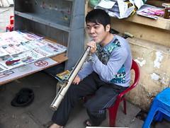 Pipe smoker (klauslang99) Tags: klauslang travel photography pipe smoker hanoi vietnam person streetphotography