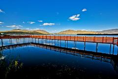 可可蘇里 野鴨湖 (686阿鴻) Tags: 藍天 白雲 高山 湖泊 倒影 木棧道