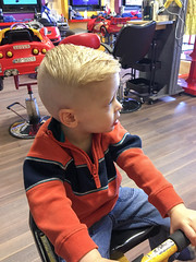 Haircut (Andrew d'Entremont) Tags: haircut hair blond blonde little boy toddler side shave shaved hairstyle style styling short handsome cute dude