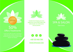 Spa-trifold-print-1 (Rifaah_Graphics) Tags: template spa flyer brochure infographics infographic illustration
