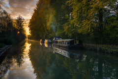 Hungerford Moorings (THE NUTTY PHOTOGRAPHER) Tags: kennetandavon canalboats canals canalpaths sunrise wetreflections mirrorimage