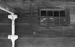 Barn Details (Alex Luyckx) Tags: toronto ontario canada thedonvalley riverdale metro urban city riverdalefarm oldcabbagetown ttc torontofilmshootersmeetup tfsm torontofilmshooters photowalk outing socal walk nikon nikonfe fe slr 135 35mm aisnikkor35mm128 yellow12 harmantechnologies ilfordphoto ilford ilforddelta400 delta400 delta asa200 kodak d76 kodakd76 11 nikoncoolscanved adobephotoshopcc bw blackwhite film filmphotography believeinfilm filmisalive filmisnotdead