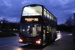 GO NORTH EAST 6905 LX06EBF IS SEEN AT NEW COLLEGE, FRAMWELLGATE MOOR ON 17 NOVEMBER 2019 WHILST ON LUMIERE PARK & RIDE DUTY. (47413PART2) Tags: lx06ebf durham framwellgatemoor durhamlumierebuses gonortheast6905 bus doubledecker gemini