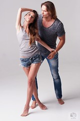 Aleska and Aleks, Couple in Love, at Pixture Perfect Studio (now defunct), Pompano Beach, FL, 2015-12-16 (JS_Photos) Tags: awesome beautiful sensual handsome couple model photoshoot denim