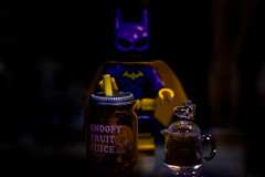 sneaking a sip HMM (Dotsy McCurly) Tags: macromondays lids macro small tiny figure lego batgirl snoopy drink straw woodstock cup dark light toyphotography canoneos80d efs35mmf28macroisstm