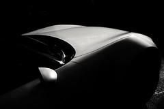 Light and shade (HonleyA) Tags: highcontrast shadows monochrome blackandwhite sportscar car whitecar ricohgr2 gr2