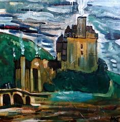 Scotia (The Big Jiggety) Tags: art arte kunst oil canvas huile toile oleo lienzo castle chateau castillo scotland ecosse escosia schloss castello architecture tela