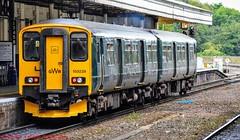 150239 @ Exeter (A J transport) Tags: class150 sprinter 150239 diesel dmu gwr greatwestern railway trains station platform england desiro exeter nikkon d5300 dlsr