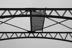 Cologne Turning Bridge 1 (hermann.kl) Tags: köln cologne drehbrücke turningbridge rheinauhafen schwarzweis blackandwhite stahl steel