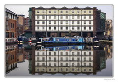 The Straddle Warehouse (Seven_Wishes) Tags: sheffield southyorkshire 2019 jo outdoor photoborder canoneos5dmarkiv canonef24105mmf4lisii straddlewarehouse reflections canal victoriaquays barge narrowboats boats water reflectioninwater buildings windows newcastleupontyne tyneandwear uk
