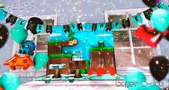 Coming Soon at Fluffy Kawaii (Axury) Tags: asura spaceinvaders secondlife mario bros backdrop cake cupcake control cumpleaños decor decoration pacman cute nes pennants pixel