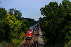 Peace Was Never An Option (BravoDelta1999) Tags: ferromex fxe railroad csxt csx transportation newyorkcentral nyc railway bigfour cccstl saintlouisline danville indiana ge es44ac 4619 q131 intermodal train