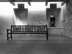mono bench at Sandia Casino (johngpt) Tags: atsandiacasino appleiphone7plus places bench benchmonday hbm monochrome