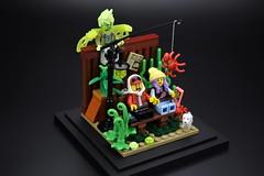 Hidden Behind (rsmbricks) Tags: lego legomoc legovignette afol afols afolclub minifigures minifigs legominifigures legominifigs rsmbricks toyphotography toys