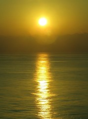 Sunset Gold Treasure,  Mediterranean Sea (moonjazz) Tags: gold light shine sun water ocean sunset spain brilliant photography star yellow path reflection moonjazz flckr haze bright nature travel amazing shmimmer mediterranean sea twilight view home guiding final vision