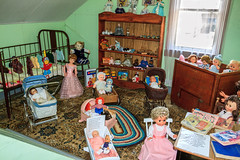 Room Of Dolls (http://fineartamerica.com/profiles/robert-bales.ht) Tags: canada forupload pineervillage places pioneervillage home cultural ancient heritage heat traditional wooden custom folklore interior fireplace countryside cookery antique wood brickcookery folkloric robertbales dawsoncreek walterwrightpioneervillage dawnsincree bc dolls kid girl child pink handcraft handicraft tailor cloth fabric clothes fashion sew doll craft toy teddybear childhood play little