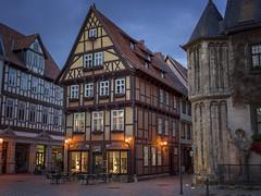 Once Upon A Time in Quedlinburg (I) (Maximilian Busl) Tags: deutschland quedlinburg sachsenanhalt light architecture fairytale zeiss buildings germany evening mood hasselblad romantic 500cm cfv50c