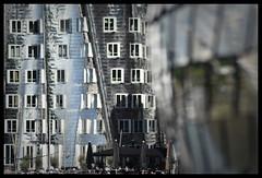 """Metallisch...""""Gehry"""" aus der Hyatt-Bar-Perspektive... (diezin) Tags: 2604 album6 architektur architekturhighlights bauwerke düsseldorf deutschland diezin dzsmd600 dzsmd635 dzsmd905 fassaden fensterfronten flickr frankogehry gebäude hochhäuser hochhaus kunstundmedienzentrumrheinhafen neuerzollhof neuerzollhofnr2 nikond5300 tamron70300"""