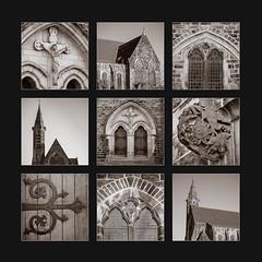 Holy Rood, Barnsley Catholic Church, Polyptych (S.R.Murphy) Tags: holyrood church barnsley barnsleyinpolyptych polyptych lightroomcc stuartmurphy architecture building oldbuilding monochrome