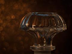 The old Carafe (ursulamller900) Tags: pentacon28100 extensiontube makroring 12mm macromondays lids bokeh glass glas karaffe carafe golden