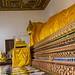 The stunning reclining Buddha at Wat Poramai Yikawat in Ko Kret, Nonthaburi near Bangkok 3