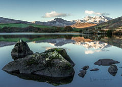 Snowdon dawn! (Nathan J Hammonds) Tags: wales snowdonia road uk trip holiday snow mountains reflection water landscape nikon rocks calm snowdon d850 sunrise view bracket hills