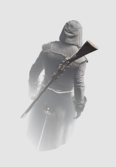 """Ghost"" (L1netty) Tags: assassinscreed assassinscreedunity ubisoft pc game gaming pcgaming videogame reshade screenshot virtual digital 4k character arno arnodorian assassin man male people rifle minimalism minimal color white"