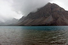Rain Clouds touching the Mountain (JB by the Sea) Tags: banff banffnationalpark alberta canada september2019 rockies rockymountains canadianrockies icefieldsparkway highway93 bowlake