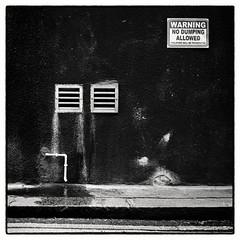 London, No dumping allowed (whootzs) Tags: bronicasqa london adonal1100standdevelopment trix1600 streetphotography medium format 6x6 square blackwhite