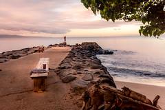 Maui Sunrise Fisherman (lavonnehing) Tags: hawaii island maui outdoors paradise activities breathing calmseas clouds lavender meditation morningfisherman pier rockwalls soulsearch space travel vacation volcanos fishing fishingpole fisherman fish