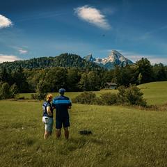 Flying Drone in the Mountains (Ma.Ha.) Tags: mountain mountains germany bayern berchtesgadenerland watzmann wanderlust green blue grass landscape