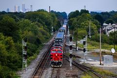 Changing Pairs (BravoDelta1999) Tags: ferromex fxe railroad csxt csx transportation newyorkcentral nyc railway bigfour cccstl indianapolisline indiana ge es44ac 4619 q131 intermodal train avon