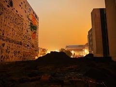 Leipzig (Meg Kamiya) Tags: leipzig germany deutschland olympus omd em10 colour light night city farbe nacht stadt baustelle