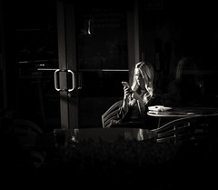 untitled--323 (Stevenchen912) Tags: streetphoto streetscene streetcandid urbanlife urbanstreet contrast composition blackwhite bw dark inspired mystery candid alone light lines dreamy women geometry