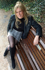 In the park (suedel36) Tags: pantyhose cd crossdresser crossdressing transvestite tgirl tgurl