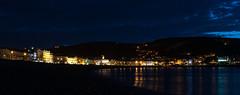 Llandudno Beachfront (Jez B) Tags: llandudno wales north lights promenade victorian beach front beachfront reflection water sea bay dark night long exposure