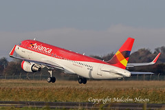 A320-214 N676AC ex PR-ONS AVIANCA BRASIL old colours 3 (shanairpic) Tags: jetairliner passengerjet a320 airbusa320mshannon avianca austrianairlines prons n676ac oelze