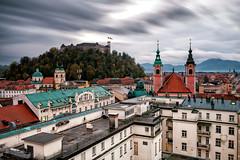 Ljubljana roofs (Petr Horak) Tags: city ljubljana slovenia europe eu longexposure castle overcast