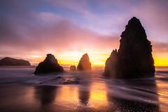 Rodeo Beach at Sunset (jen_moss) Tags: sand rock waves marinheadlands rodeobeach ocean beach sanfrancisco marin sunset