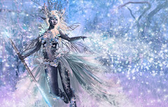 Bring on the snow (Tamzin Xigalia) Tags: life christmas flowers winter snow ice girl shop garden stars design costume outfit eyes women shoes dress mesh body omega machine ears elfe clothes sparkle sl elf event fairy creation secondlife second heels bodysuit wonderland hud magical rp aura hairs jewerly roleplay gacha maitreya irrisistible catwa