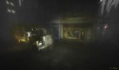 Lonesome Together (Loegan Magic) Tags: secondlife digital urban cirty truck street night lights