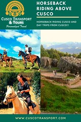 Enjoy horseback riding Cusco through stunning scenery through the archeological ruins of Tambomachay, Puka Pukara, Qenko and Sacsayhauaman. This Cusco day trip is for nature lovers enjoying a casual ride in the outdoors. We offer day trips in private serv (cuscotransportweb) Tags: pukapukara citytourcusco tourcusco sacsayhuaman cuscotransport cuscoperú qenko adventures