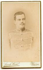 . (Kaïopai°) Tags: vintage cdv cartedevisite cartedevisit portrait portraiture face herr mann mon homme hombre mustache beaard husar soldat soldier mainz uniform