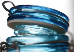 Lid, open (Snorkle-suz) Tags: macromondays lids glassjar blue open shallow dof small glow art macro closeup indoors insidemyhouse nz newzealand aotearoa stilllife canoneos600d canoneosrebelt3i canoneoskissx5 50mm ef50mmf18stm extensiontubes ordinaryart