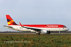 A320-214 N676AC ex PR-ONS AVIANCA BRASIL old colours 1 (shanairpic) Tags: jetairliner passengerjet a320 airbusa320mshannon avianca austrianairlines prons n676ac oelze