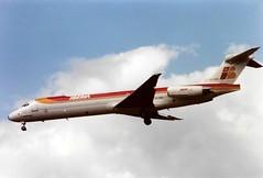 Photo of EC-EUD McDonnell Douglas MD-87 cn 49828 ln 1667 Iberia Heathrow 13Jun91